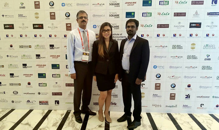 In Photo (from left): Day 2 of the conference attended by Pramod Kurian – COO, Rowena Paquibot and Laiju Issac – Account Manager for Enterprise Solutions.